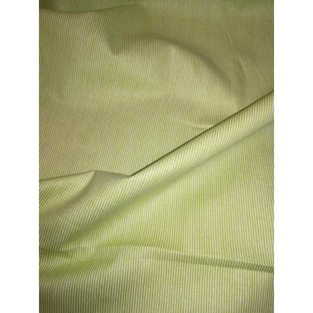 Coton lignés vert