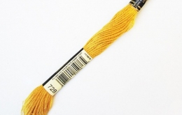 Mouliné DMC spécial jaune 728