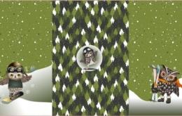 Panneau 'Winter Owl' vert
