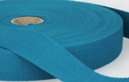 Sangle coton 30mm bleu canard
