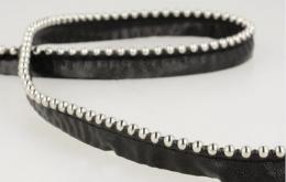 Passepoil bille métal noir