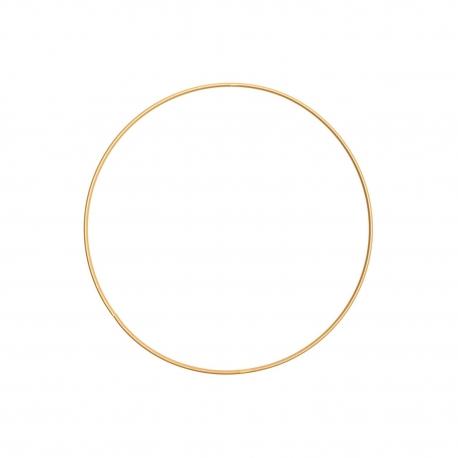 Anneau en métal rond doré