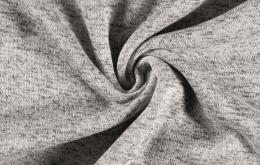 Tissu tricot chiné blanc cassé
